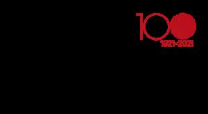 Musta teksti: Pen International, punainen teksti: 1921-2021.